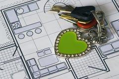 Home Plan. Close up of home plan Stock Photos