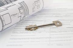 Home Plan Stock Photo