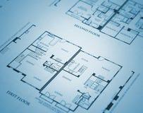 home plan Royaltyfri Fotografi