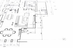 Home plan blueprint Royalty Free Stock Photography