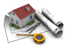 Home plan Stock Photography