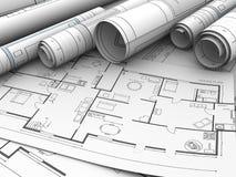 Home plan Stock Image