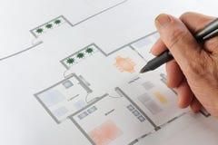 home plan för golv royaltyfri foto