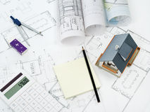 Home plan - Stock Image Stock Image