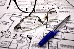Home plans Stock Photography