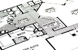 Home Plans. Architectural Plans For a Home Stock Image