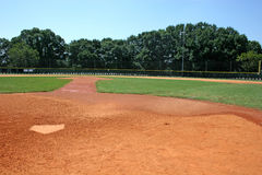 Home Plate. Baseball field behind home plate Stock Photography