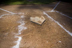 Home Plate Royalty Free Stock Photography