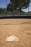 Home plate. A view of home plate Stock Photography
