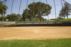 Home plate. A view of home plate Royalty Free Stock Photos