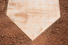Home plate. Of a baseball field Royalty Free Stock Photography