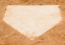 Home Plate. Baseball diamond home plate base Stock Photo