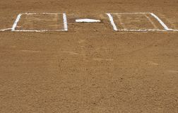 Home plate Stock Image