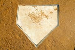 Home plate royalty free stock image