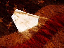 Home Plate and America Stock Photo