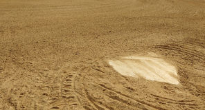 Home Plate of a Baseball Diamond stock image
