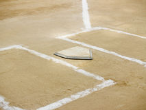 Home plate and batter's boxes Stock Photography