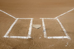 Home Plate and Batters Boxes Royalty Free Stock Photos