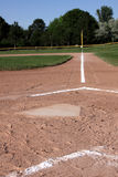 Home Plate Down the Line Royalty Free Stock Photos