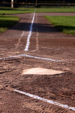 Home Plate at Dusk Stock Photography