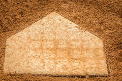 Home plate in the field royalty free stock photo
