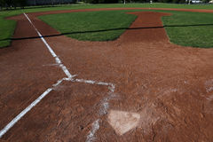 Home Plate and Field Royalty Free Stock Photos