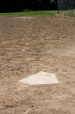 Home plate with first base Stock Images