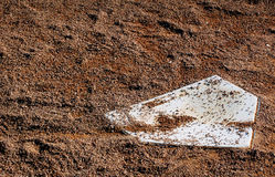 Home Plate - Horizontal. Home plate on baseball field - horizontal orientation stock photography