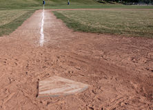 Home Plate Left Side Stock Photography
