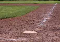 Home Plate Shallow Focus Stock Image