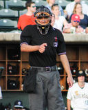 Home plate umpire Reid Joyner Stock Photography