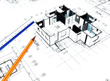 Home plot plan Stock Images
