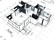 Home plot plan Stock Photography