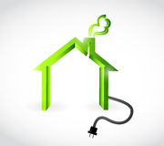 Home with plugging cable illustration design Stock Photo