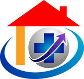 Home plus logo Stock Image