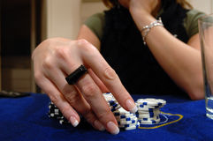Home poker03 Stock Photography
