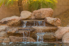 Home Pool Waterfall Stock Images