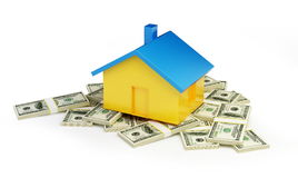 Home price. On a white background Royalty Free Stock Images