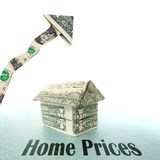 Home prices Royalty Free Stock Photo