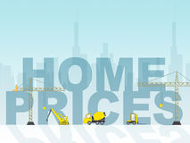 Home Prices Shows Houses Residential And Cost Royalty Free Stock Photography