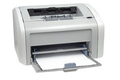 Home Printer. Style laser printer isolated with clipping path over white background Stock Photography