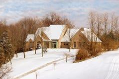 home privat vinter för bygd royaltyfri bild