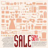 Home product 50% discount for summer sale Royalty Free Stock Image