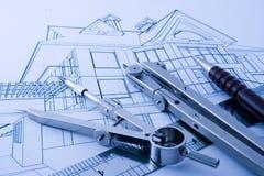 home projekt för arkitektur Arkivfoton