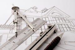 home projekt för arkitektur Royaltyfri Foto