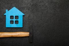 Home property repair, success renovation. Copy space for text royalty free stock photos