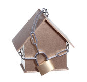 Home protected with padlock and chain Stock Images