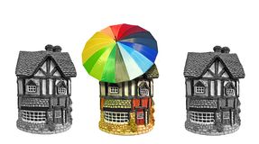 Home protection cover insurance legal mortgages royalty free stock image
