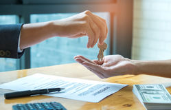 Home purchase agreement. Stock Photography