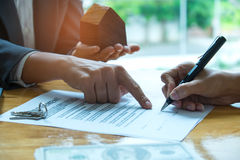 Home purchase agreement. Stock Image